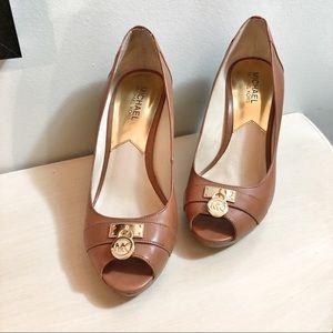 Michael Kors open toe wedge shoes